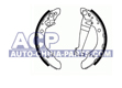 Brake shoes A-80 -89 /Passat -88
