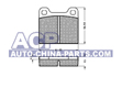 Brake pads Mercedes 123 79-85 /Volvo 740/760/940 (rear)