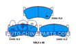 Brake pads Nissan Almera 1.4-2.0D 95-