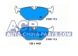 Brake pads BMW E39 520-535 96- (rear)