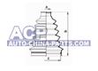 C.V.Joint boot (outside) (D1=29mm,D2=96mm,H=145mm) MB Vito/V-klas? BM 638 97-