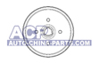 Brake drum A-80 -86 /Golf/Jetta 83-91 (171501615B)