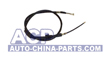 Handbrake cable L. A-80 86-91 (drum)